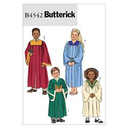 Butterick Children's / Boys' / Girls' Robe and Collar Pattern B4542 Size CX0