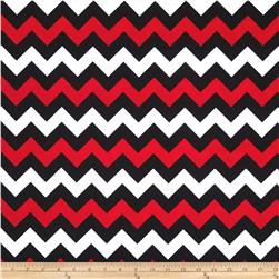 Riley Blake Wide Cut Chevron Medium Red/Black Fabric