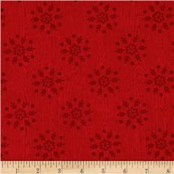 Winter Lodge Snowflake Red