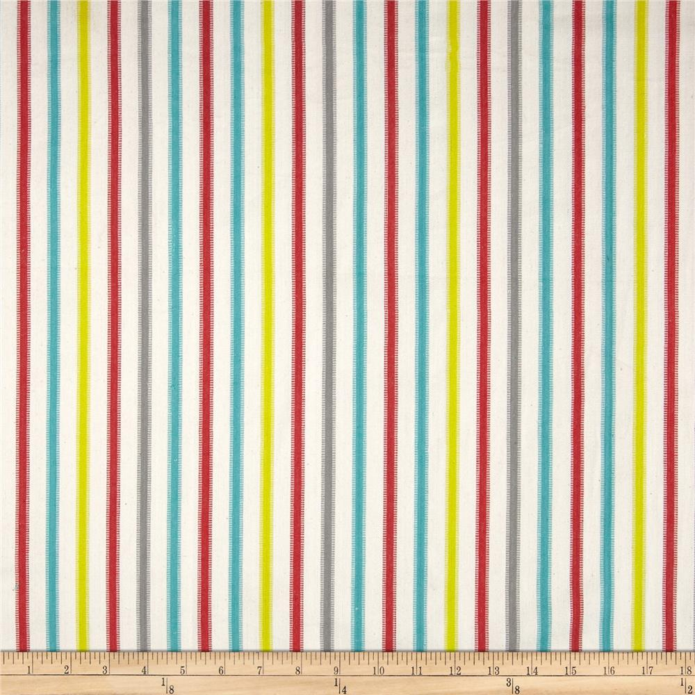 Home Accents Tangiers Stripe Turquoise/Red