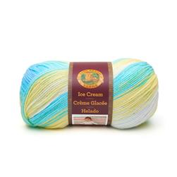 Lion Brand Yarn Ice Cream Lemon Swirl