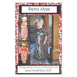 Retro Mae Plain Jane Girls Dress Pattern Booklet