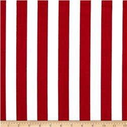 Broadcloth Blend Stripe Red/White