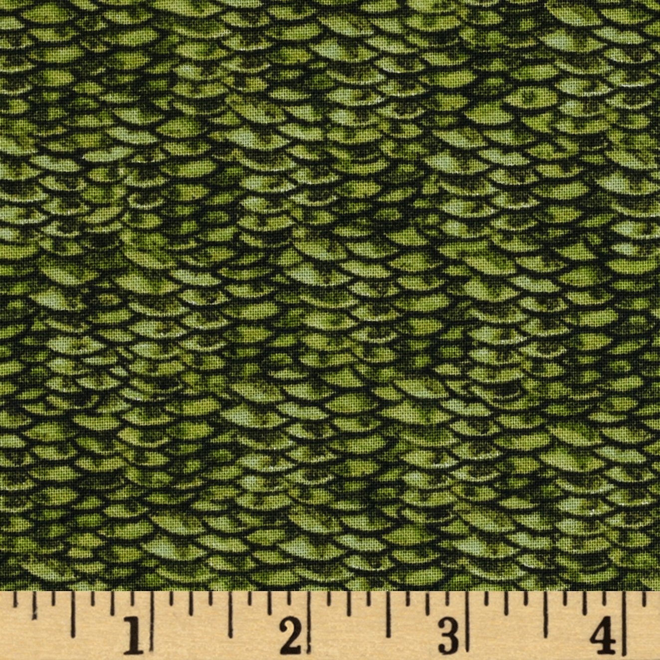 Image of Reel It In Fish Scales Green Fabric