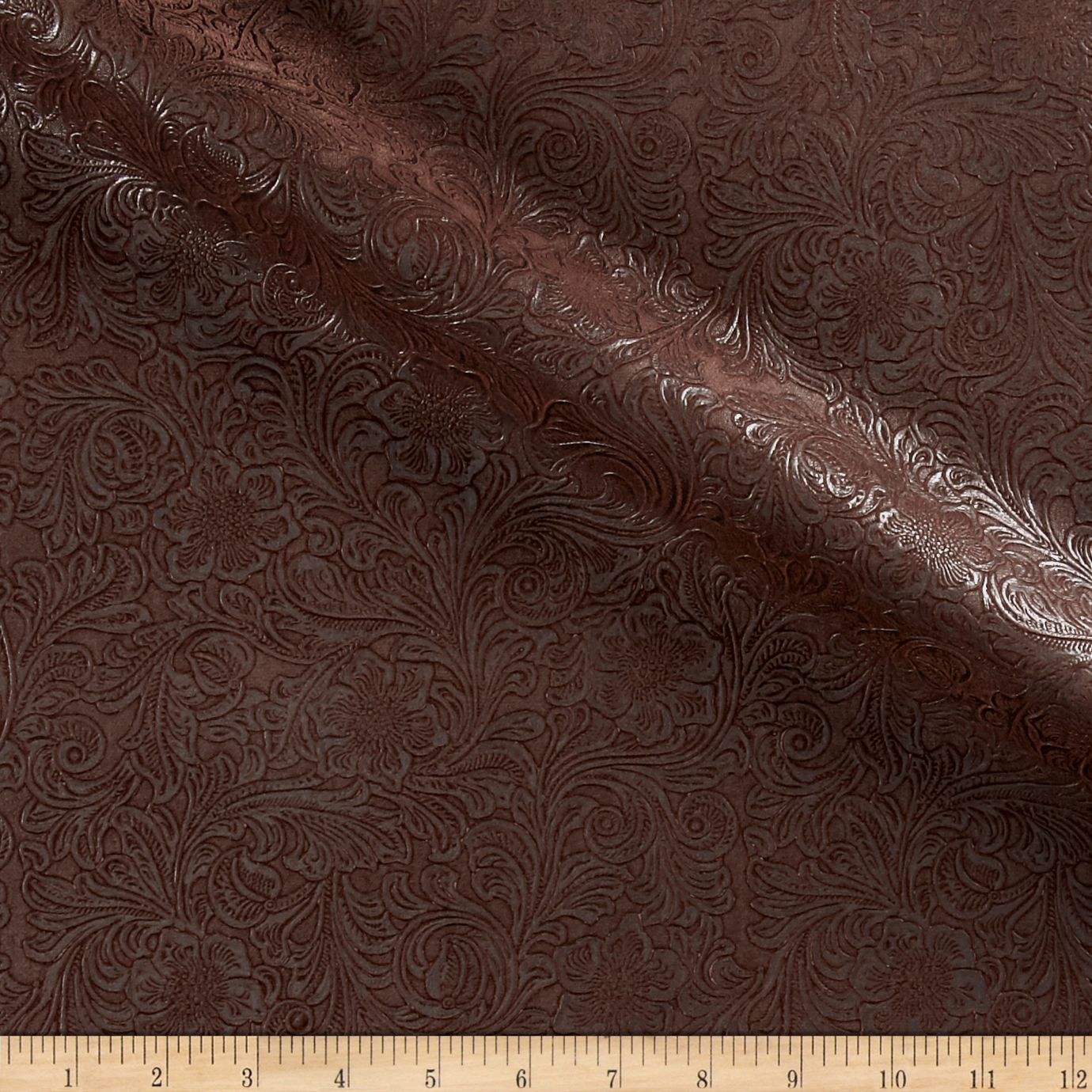 KasLen_Faux_Leather_Western_Trail_Chocolate