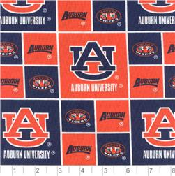 Collegiate Cotton Broadcloth Auburn University Tigers Fabric