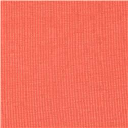 Cotton Rayon Rib Knit Coral Orange