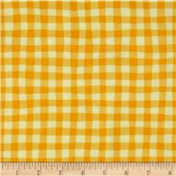 Cuteville Country Fair Gingham Yellow