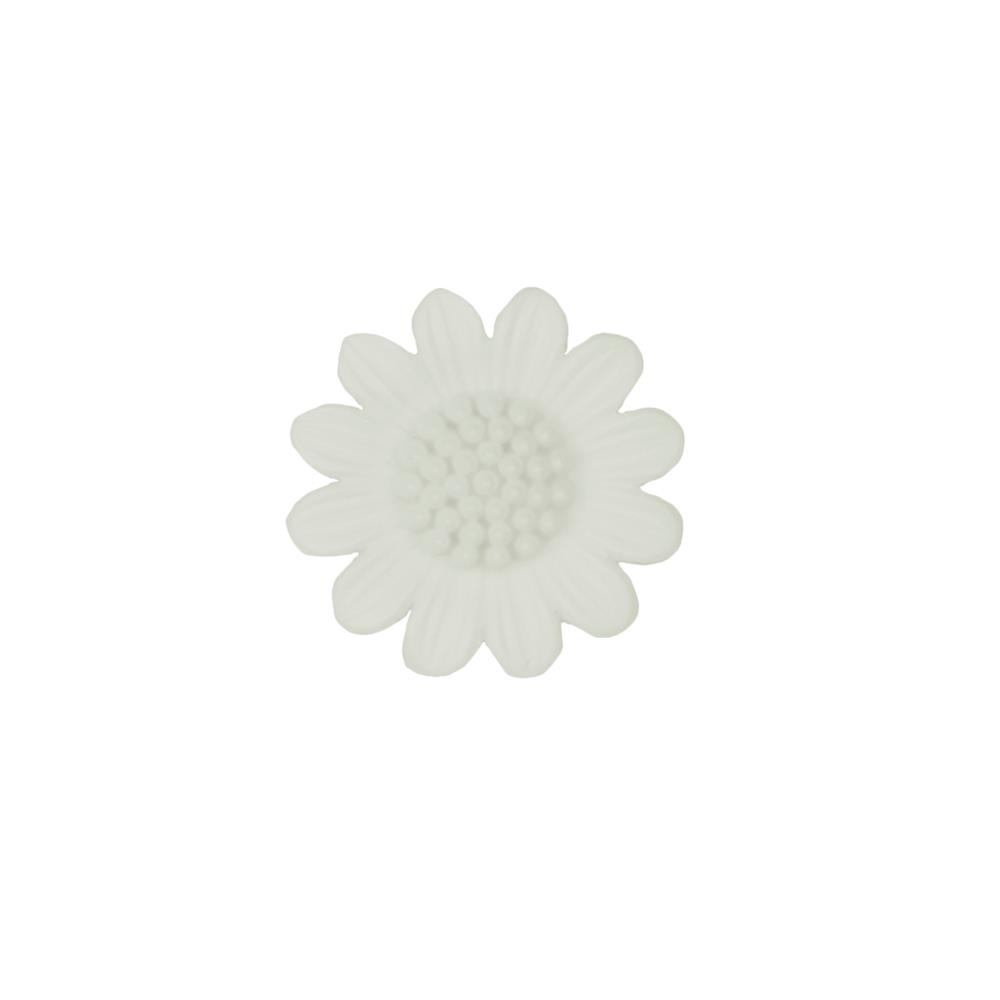 Dill Novelty Button 1 1/8'' Daisy White