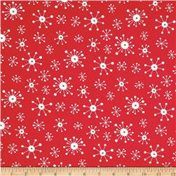 Moda Eat, Drink & Be Ugly Snowflakes Santa Red