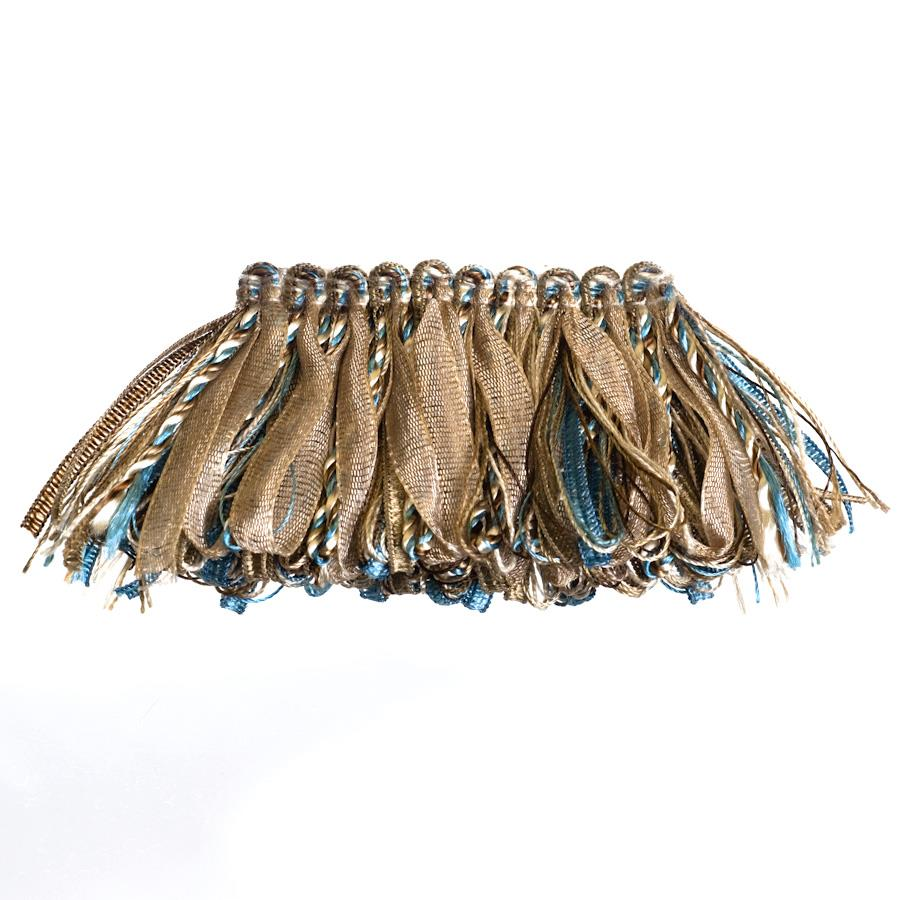 "Fabricut 2"" Rejuvenation Loop Fringe Teal"