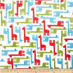 Minky Cuddle Urban Zoologie Giraffe Cherry Fabric