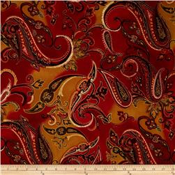 Marrakesh Large Paisley Red