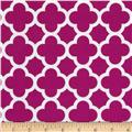 Riley Blake Medium Quatrefoil Fuchsia