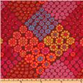 Kaffe Fassett Winter 2011 Collection Tile Flowers Red