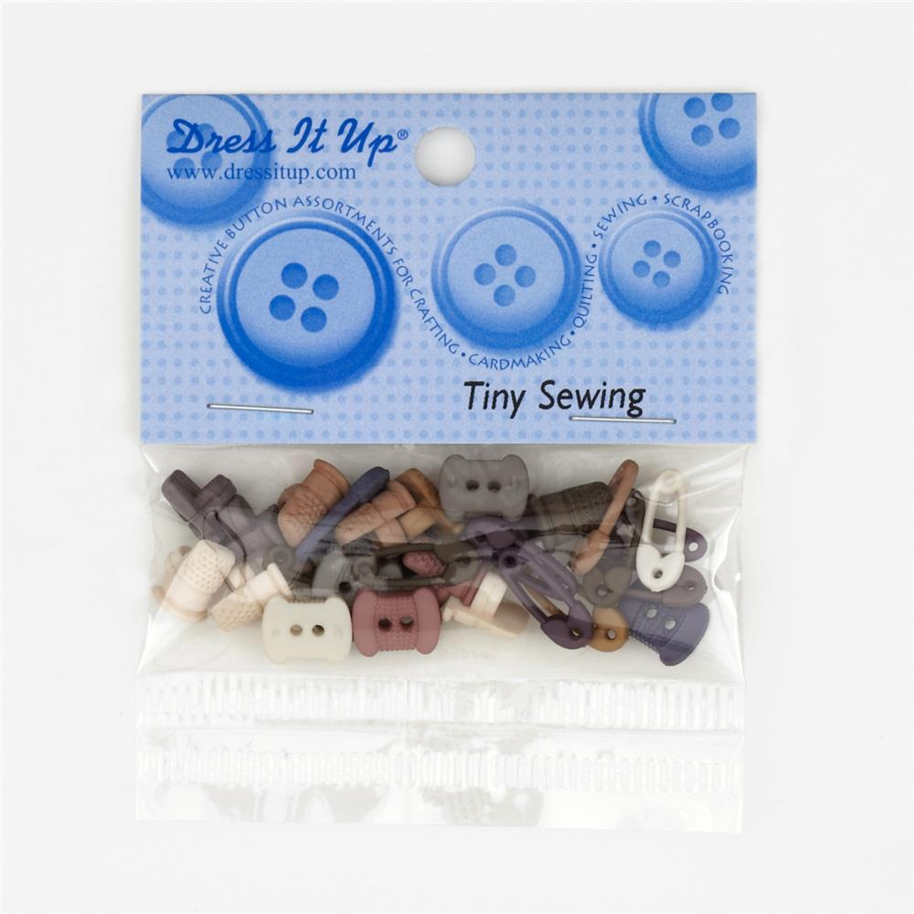 Dress It Up Embellishment Buttons Tiny Sewing