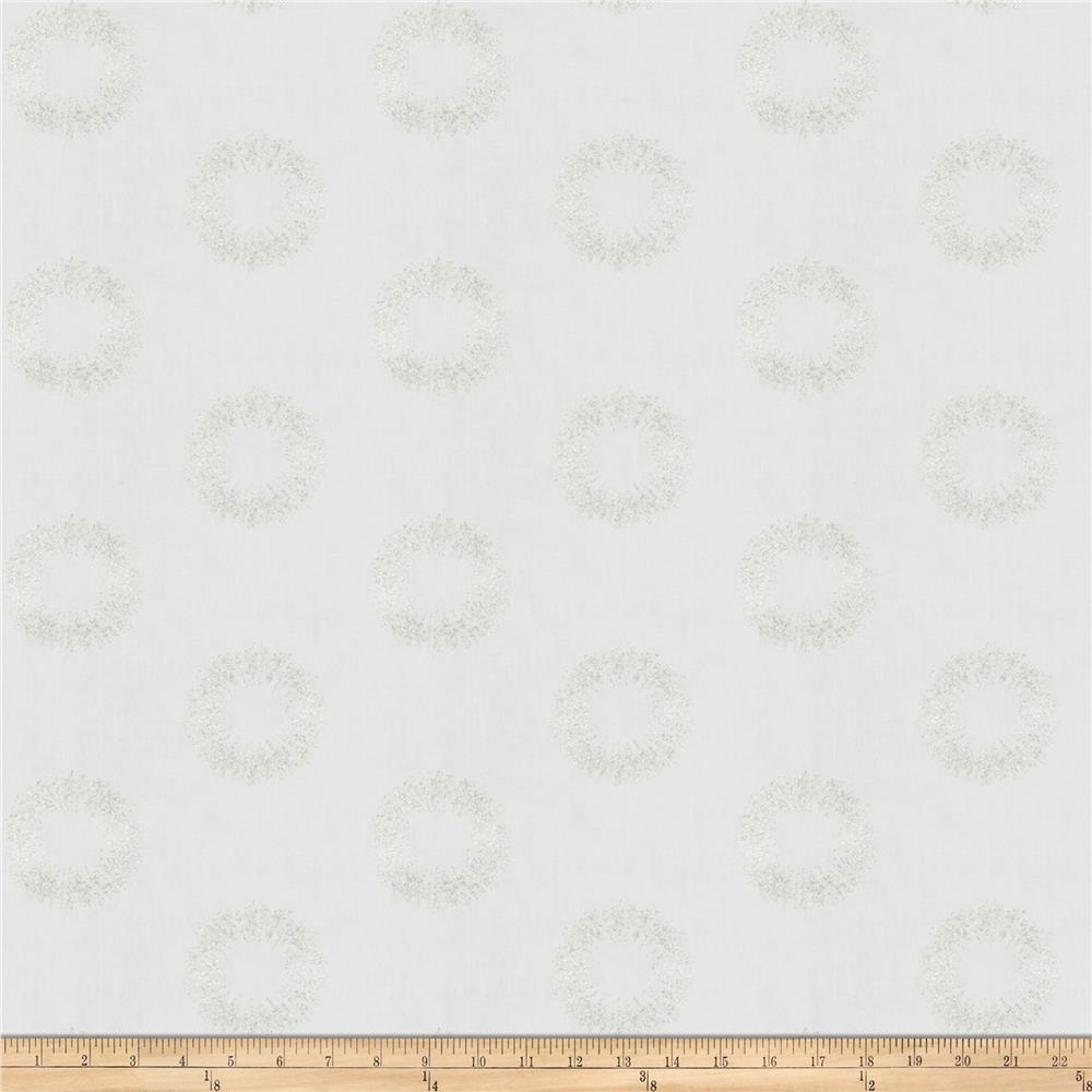 Fabricut Damen Sparkle Embroidered Faux Linen Quartz