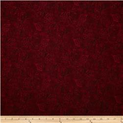Jinny Beyer Palette Ghost Flower Maroon