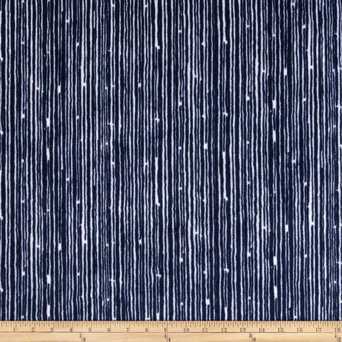 Shannon Premier Prints Mockingbird Minky Cuddle Canvas Navy/Snow