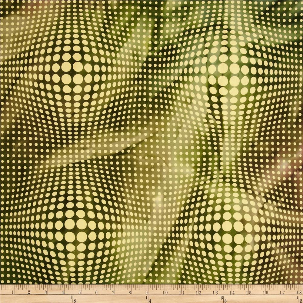 Indian Batik Dots Green