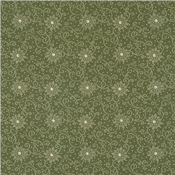 Moda Wintergreen Snowflakes Holly Leaf