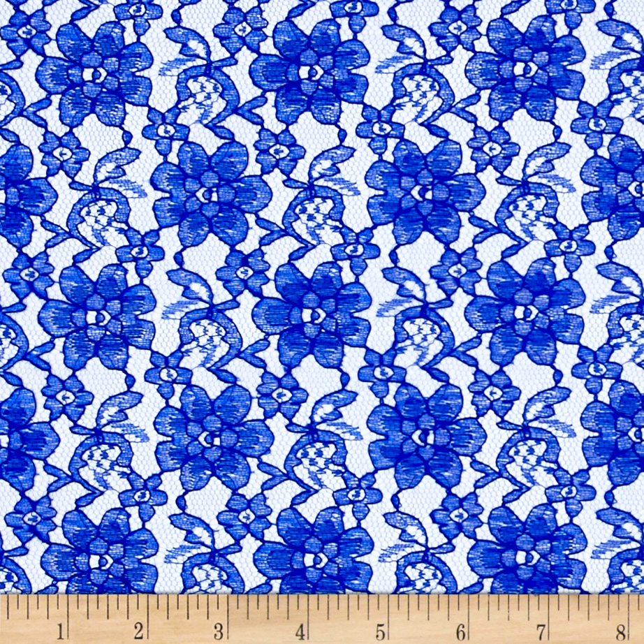 Raschelle Lace Royal Fabric by Ben in USA