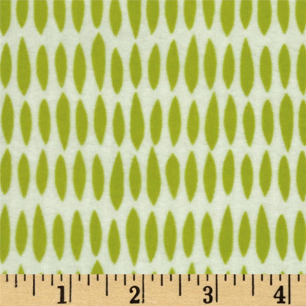 Riley Blake Flannel My Sunshine Raindrops Green
