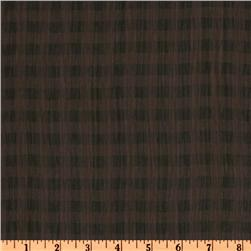 Crinkle Chiffon Checks Brown/Black