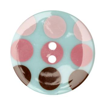 Fashion Button 1-3/8'' Confetti Circles Blue