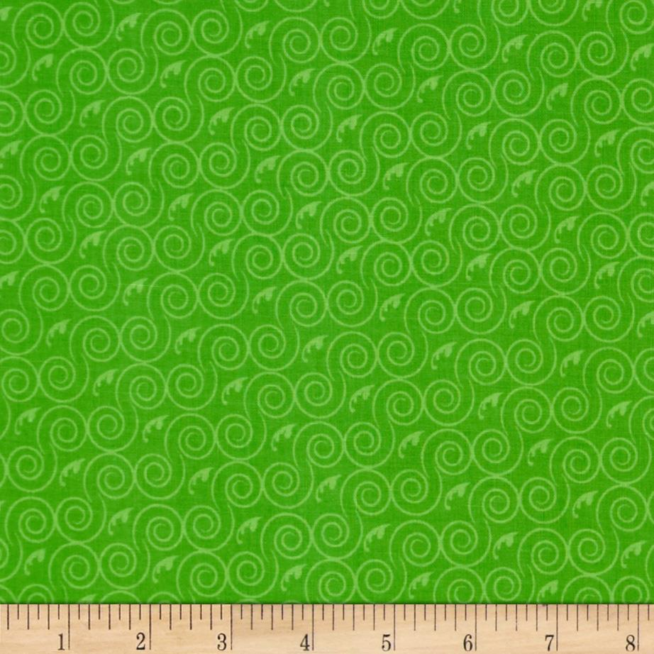 Tone on Tone Swirls Green