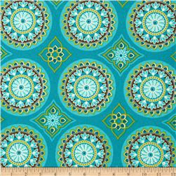 Terrasol Indoor/Outdoor Sundial Peacock Fabric