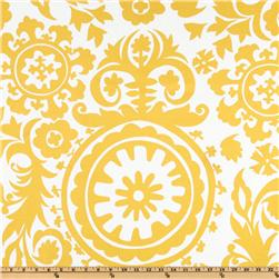Premier Prints Suzani Slub Yellow/White Fabric
