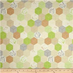 Animal ABCs Large Geometric Organic Cotton Khaki