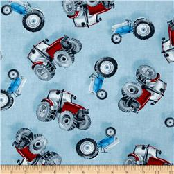 Green Mountain Farm Tossed Tractors Blue