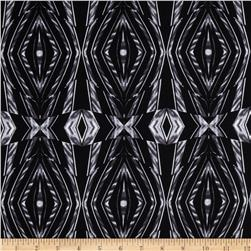 Silky Stretch ITY Jersey Knit Kaleidoscope Black/Grey Fabric