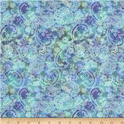 Lagoon Medium Paisley Teal Purple