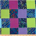 Indian Batik Pre-Sewn Patchwork Blue/Pastel