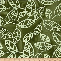 Indian Batik Arcadia Tea Leaf Natural/Green