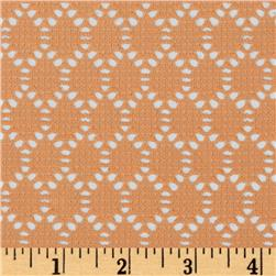 Stretch Crochet Lace Knit Orange