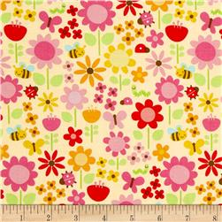 Riley Blake Ladybug Garden Large Floral Yellow