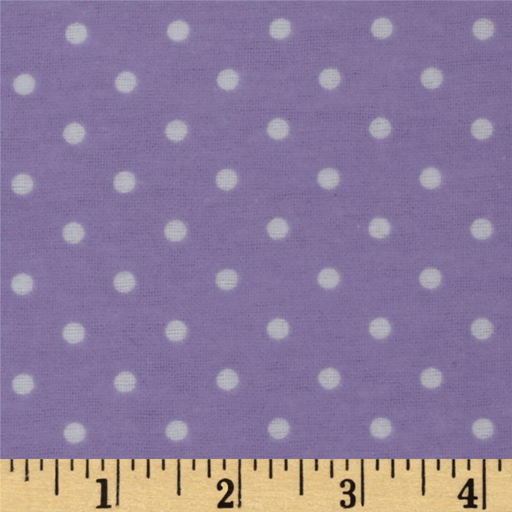 Dreamland Flannel Swiss Dots Lavender Lily