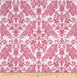 Riley Blake Large Damask White/Hot Pink