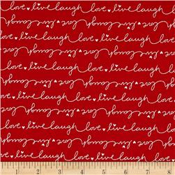 Moda #Love Script Red
