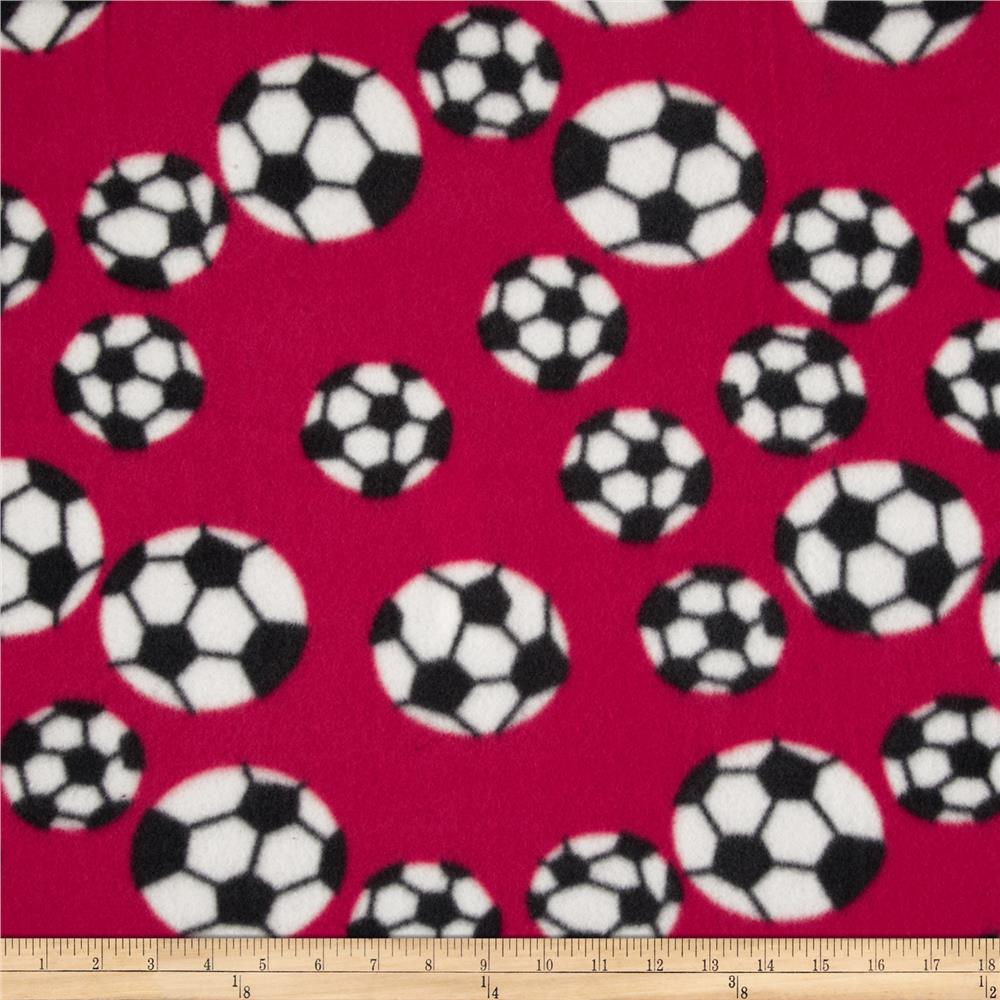 Fleece Soccer Balls Red/White
