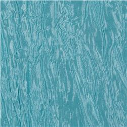 Crushed Taffeta Iridescent Tiff Blue Fabric