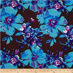 Van Gogh Rayon Challis Etched Blue