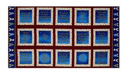 "Silent Night Blocks 24"" Panel Blue"
