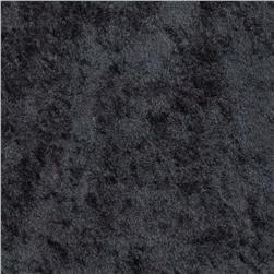 Crushed Panne Velour Black