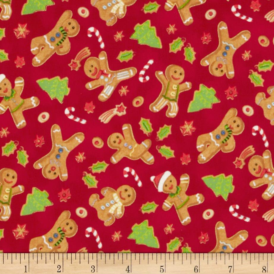 Season's Greetings 2013 Gingerbread Men Red
