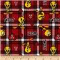 Tweety Flannel Plaid Red